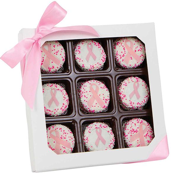Box of pink ribbon Oreos