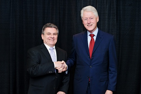 Promotional Products Veteran Meets Bill Clinton
