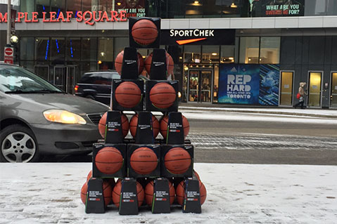 Toronto Residents Surprised With Basketball Giveaway
