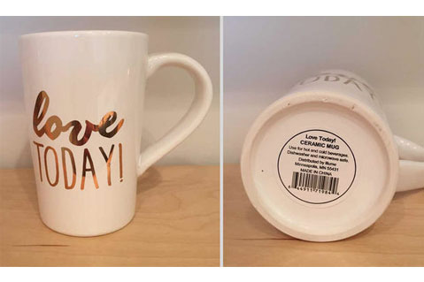 CPSC Recalls Ceramic Mugs