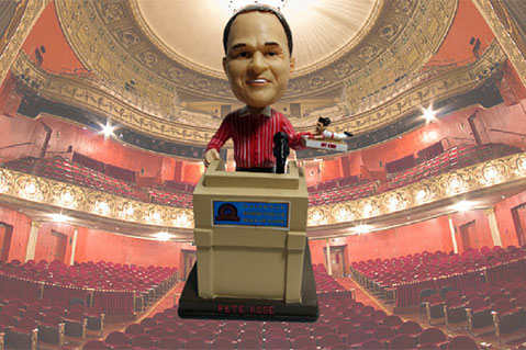 Pete Rose Slides Into Bobblehead Hall of Fame