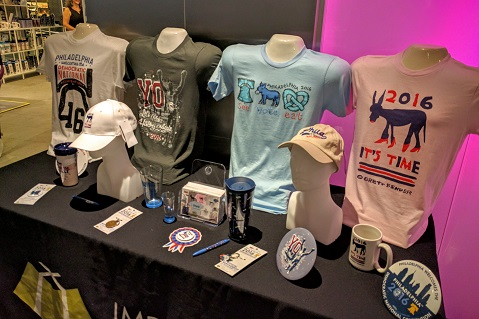 DNC Pop-Up Shop Displays Creative Promo Items