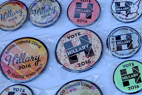 Political Buttons Abound at DNC