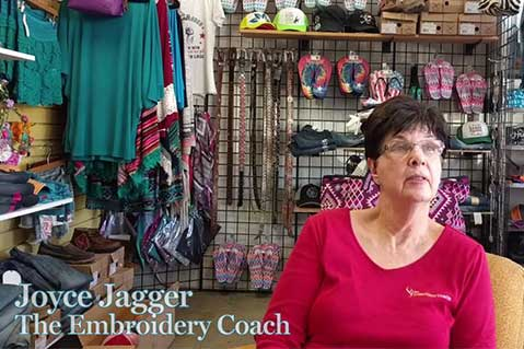 Video: Embroidery Coach Assesses Arizona Shop