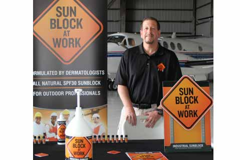 Firm Pitches Sunscreen At Job Sites