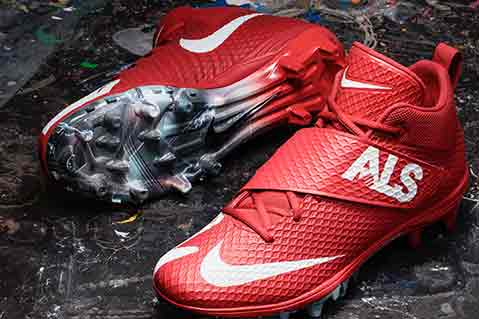 Customized NFL Cleats Raise Money For Charity