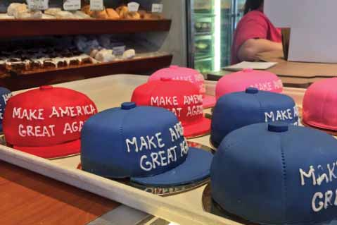 Donald Trump Hat Cake Causes Facebook Firestorm, Drives Sales