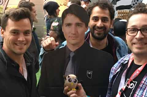 Banned in the US: Cardboard Justin Trudeau