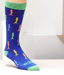 Customizable Sock With All-Over Knit-In Logo
