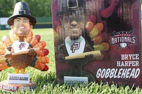 "MLB Star Bryce Harper Is Half-Turkey In Wacky ""Gobblehead"" Promotion"