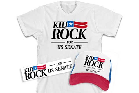 Oh Yes, Kid Rock Campaign Merch Is Available To Buy