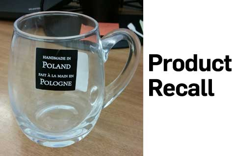 CPSC Recalls Glass Beer Mugs