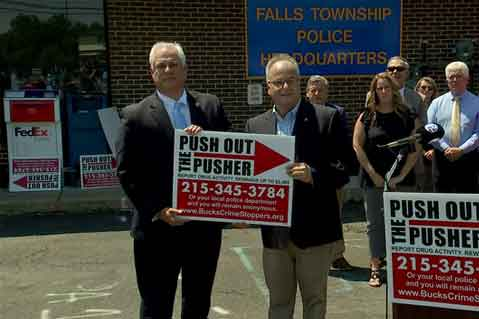 Yard Signs Used to 'Push Out the Pushers'