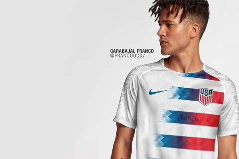 Image of Potential New U.S. Men's World Cup Jersey Leaked Online