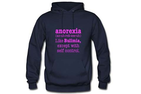 """Anorexia"" Sweatshirt Sold on Amazon Spurs Outrage"