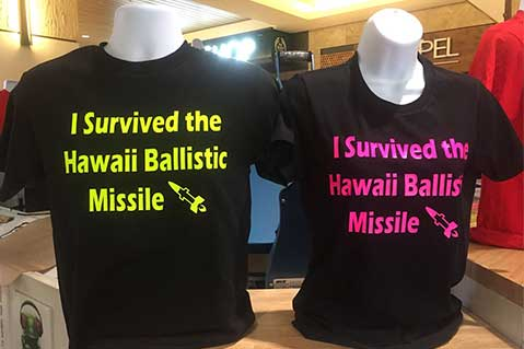 Imprinted Tees Commemorate 'Missile Attack'