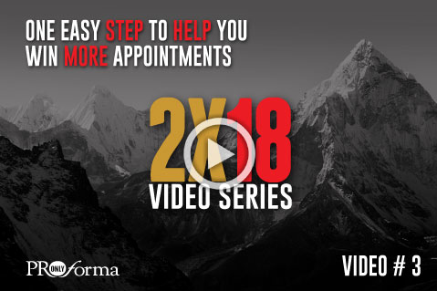 Video #3: One Easy Step to Help You Win More Appointments
