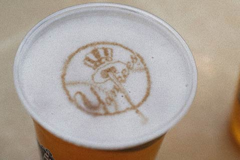 'Imprinted' Beer Foam Of Yankees' Players Gets The Kibosh