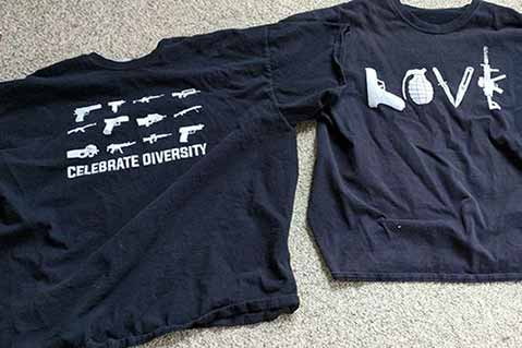 Firearms T-Shirts at Heart of Teen's Lawsuit Against School Principal