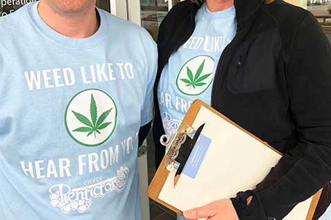 Clever Custom T-Shirts Help Promote City's Pot Survey