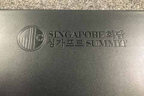 Supplier Provides Conference Pads for Trump/Kim Summit