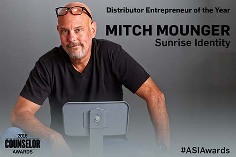 Distributor Entrepreneur of the Year 2018: Mitch Mounger, Sunrise Identity