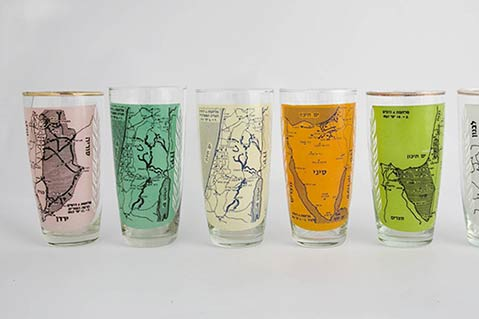 Kitsch Is Culture: Imprinted Drinkware Exhibit A Window To Israeli History