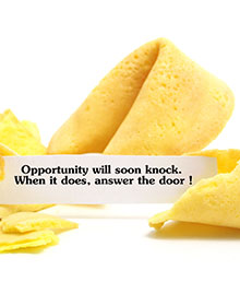 Opportunity Knocks (in Odd Places)