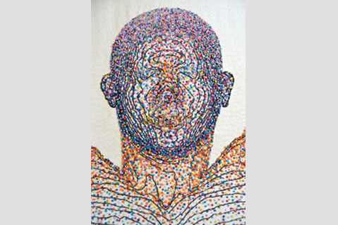 Artist Maps Body With Embroidery