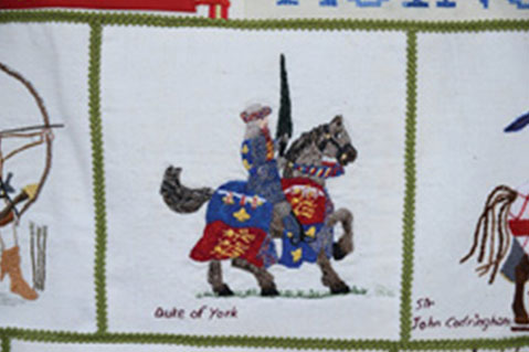 Tapestry Recognizes Medieval War Hero
