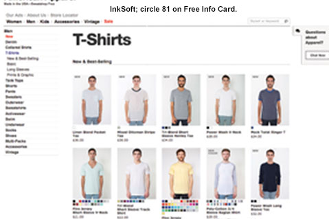 Easier Online Design for American Apparel